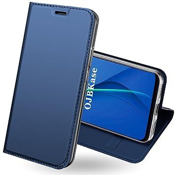 OJBKase Funda Xiaomi Redmi Note 5 Pro, Premium Piel sintética Billetera Carcasa Protectora Cartera y Funda Cubierta Interior TPU Protección De Cuerpo ...