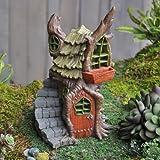 Cheap Fairy Garden Village Stump House
