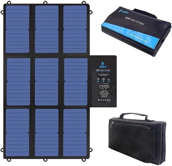 Amazon.com: BigBlue - Cargador solar plegable portátil con ...