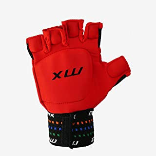 MX (LH hockey guanti senza dita unisex, rosso, XS