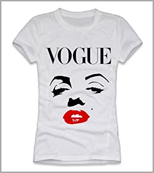 Camiseta mujer Marilyn Vogue, mujer, Bianco, S