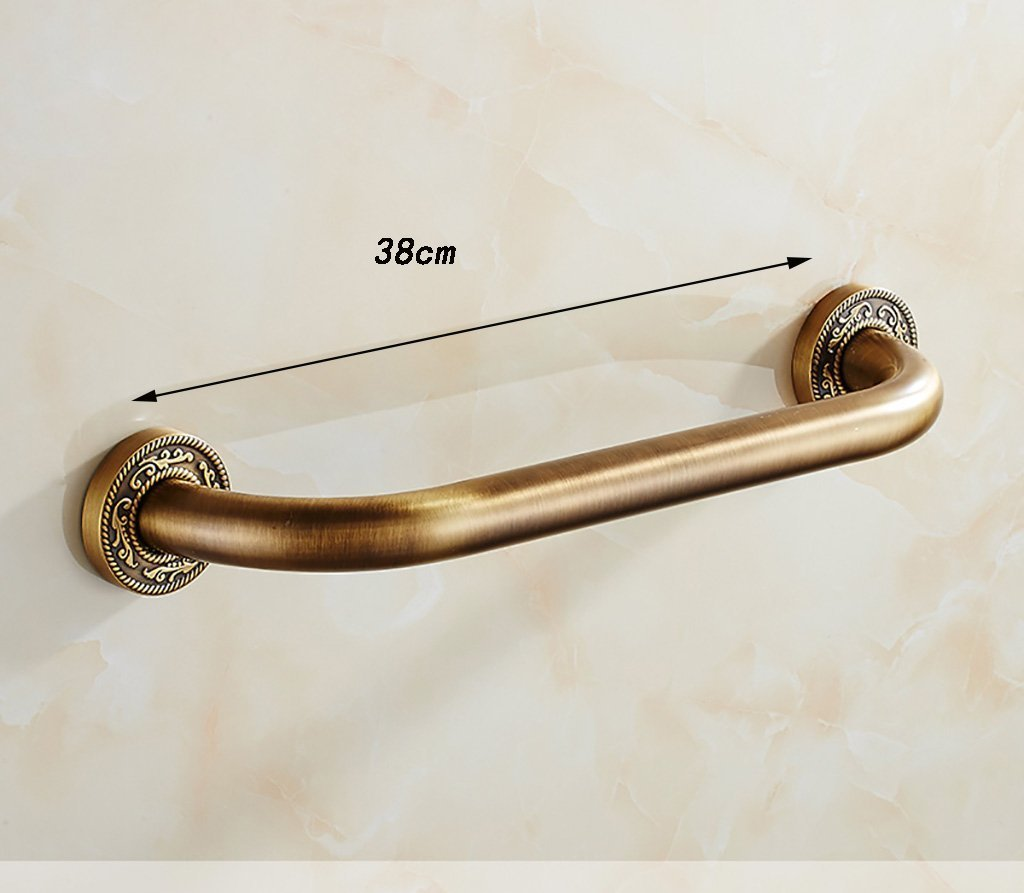 YAOHAOHAO Bathroom hand rails vintage carved hand rails bath rooms of railway safety bathroom safety bars slip firm hand rails in the shower (Size: 48 cm).