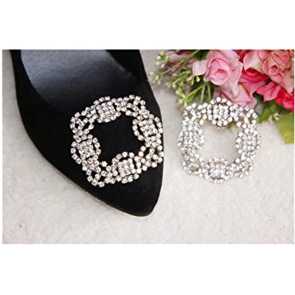 1301787a3 Amazon.com  Douqu 2016 New Removal Square Rhinestone Shoe Clips for Fashion  Metal Decorative Clip Accessories-1 Pair  Arts