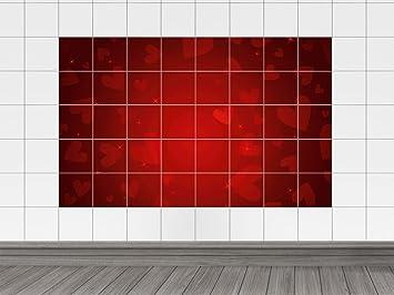 Piastrelle immagini piastrelle adesivo per cucina cuori stelle rosso