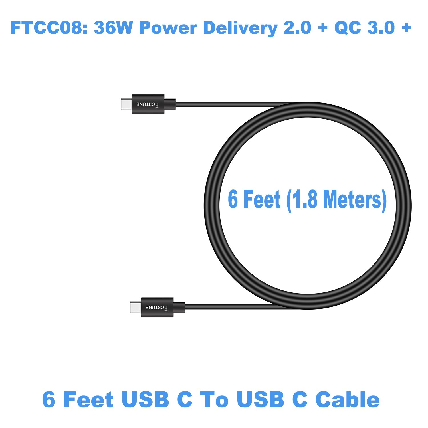 Samsung Galaxy S9 Car Charger USB C Car Charger with Power Delivery 2.0 /& Quick Charge 3.0 Ports /& 6ft USB C Cable Works for Galaxy S8 Note 8 Pixel 2//XL Moto Z2 LG V30 Fortune Group 43237-26529 Samsung Galaxy S8 Car Charger