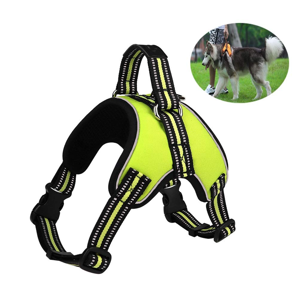 Green X-Large Green X-Large Dog Harness No-Pull Pet Harness Adjustable Outdoor Pet Vest Reflective Oxford Material Vest for Dogs Easy Control for Small Medium Large Dogs (color   Green, Size   XL)