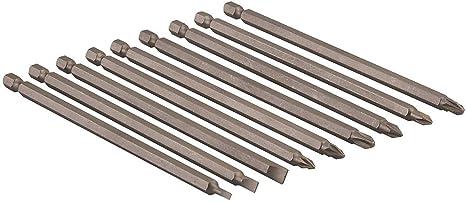 """9tlg 1//4/"""" Magnetisch Lange Hex Phillips Schraubendreher-bit Set PH1-PH2 100mm"""