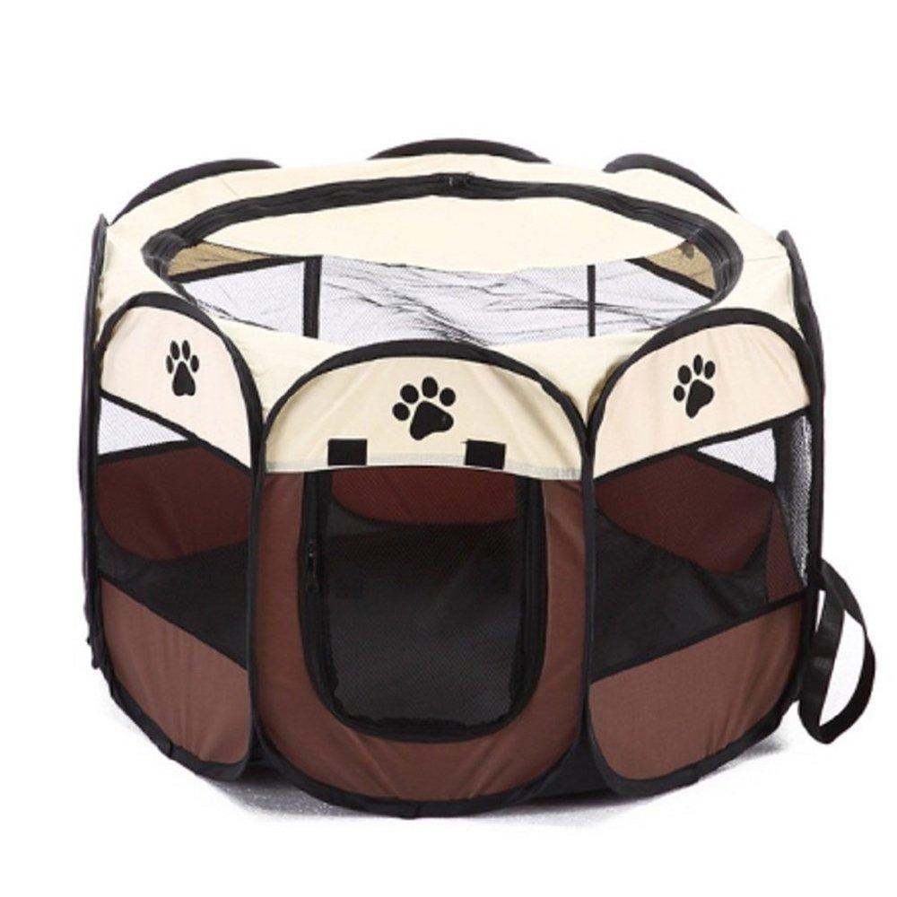 Syston Pet Parc Cage Chien Crate Parc Tentes de Chat Pliable Maison de Chiot Étanche Chien Clôture Chenil pour Petit Moyen Grand Chiens Systond