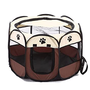 Systond Pet Playpen Dog Cage Crate Reproducir Pen Cat Tents Plegable Puppy House Impermeable Dog Kennel para perros medianos grandes y pequeños DH006: ...