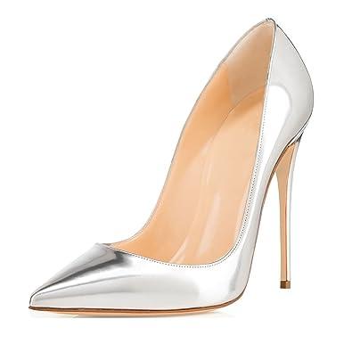 6279ef3cb7ff8 Soireelady Escarpins Femme Talon Haut 12CM,Vernies Talons Chaussures,Coupe  Fermées Femme
