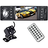 Bedee 4,1 Zoll HD Stereo Autoradio MP5 Player mit Bluetooth Fernbedienung + Rückfahrkamera Backup-Kamera für iPhone / iPad / iPod / Android Smartphone Musik Audio Video Play und Reversing, Unterstützung USB/AUX Anschluss SD Karten, 1 Din
