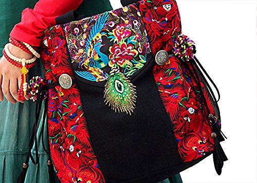 100% Handmade Handbag Purse Tote Bag - Belle Oriental Ricamo Art # 152