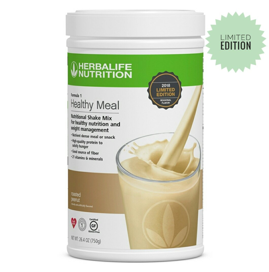 HERBALIFE Roasted Peanut Formula 1 Healthy Meal Nutritional Protein Powder Shake Mix: Limited Edition 750 g by Herbalife