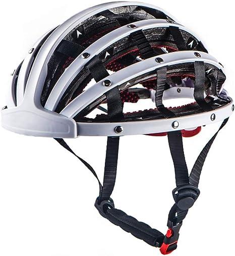 Casco Casco para Bicicleta Casco de Bicicleta Casco De Bicicleta Utilizado For Proteger La Cabeza Humana Apto For Todo Tipo De Deportes De Ciclismo (Color : White, Size : 55-60cm): Amazon.es: Deportes