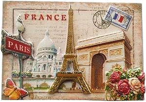 Paris France 3D Fridge Magnet Souvenir Gift,Home & Kitchen Decoration Magnetic Sticker Paris France Refrigerator Magnet Collection