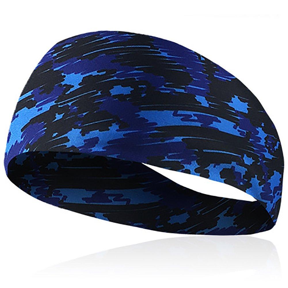 Seasaleshop Stirnbänder für Männer und Frauen - Frauen Sport Athletic Stirnband Feuchtigkeitstransport Workout Schweißbänder für Laufen, Crossfit, Yoga und Fahrradhelm freundlich
