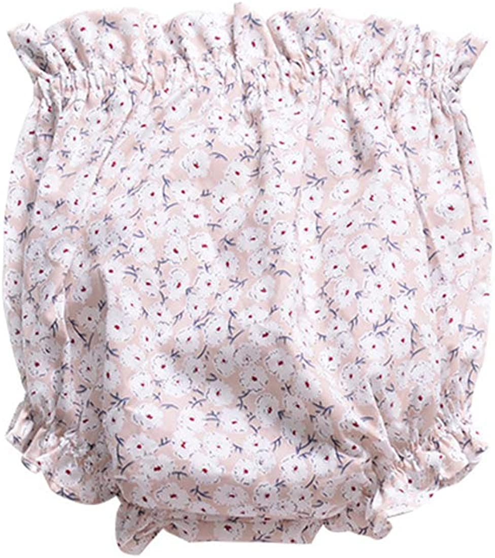AYIYO Baby Infant Girls Cotton Ruffle Floral Bloomers Diapers Shorts