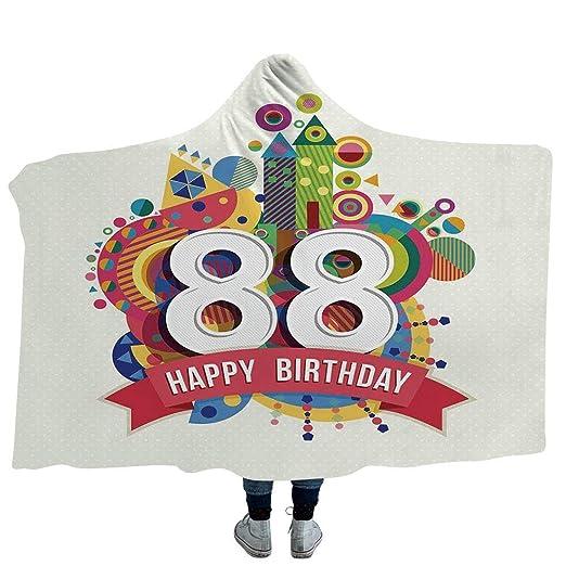 VAMIX Manta para Adultos 90 cumpleaños Decoraciones de Felpa ...