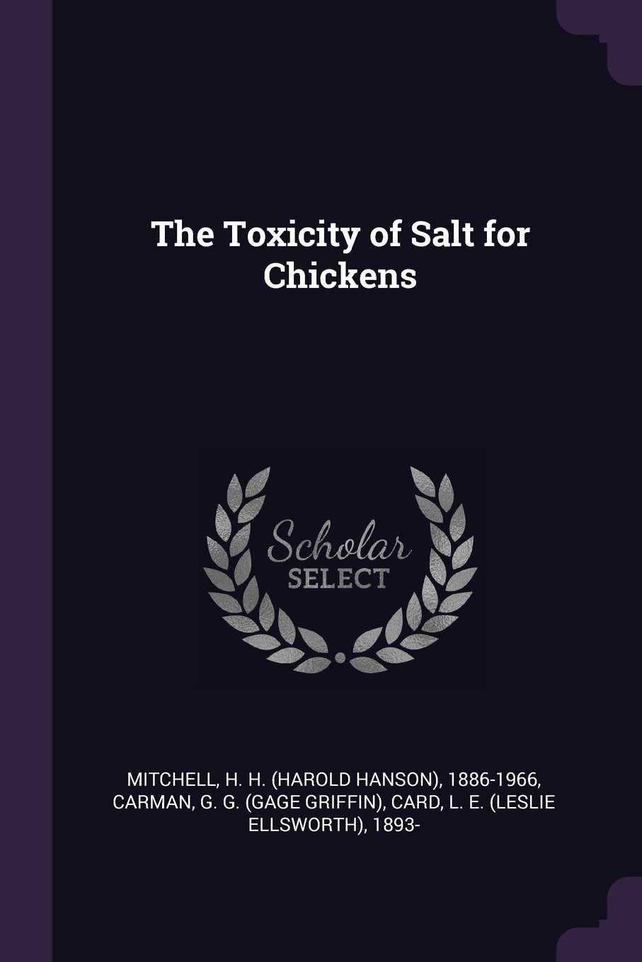 Download The Toxicity of Salt for Chickens pdf epub
