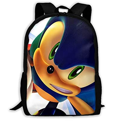Sonic The Hedgehog Kids School Backpack 3D Printed Bookbag for Boys Girls: Clothing