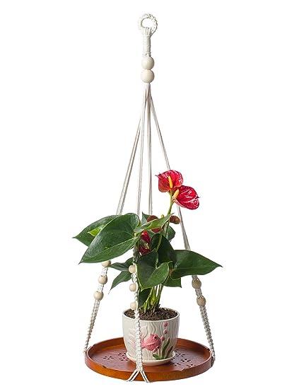 Amazon Com Yxmyh Macrame Shelf Planter Hanger For Indoor Plants