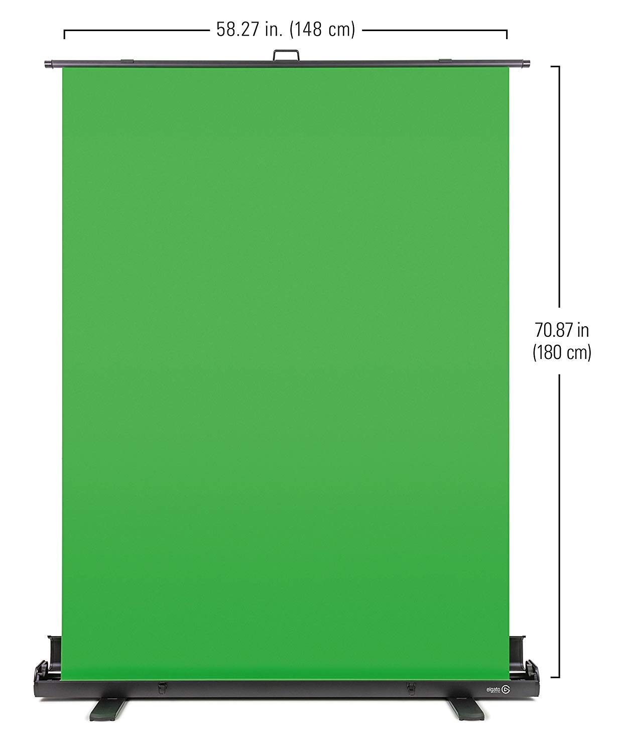 Elgato Green Screen - Collapsible chroma key panel for background removal  with auto-locking frame, wrinkle-resistant chroma-green fabric, aluminum