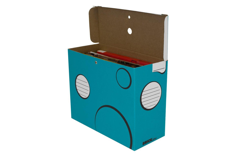Boxa BRICK Elegant School Supply Organizer Box, 6 per Pack (6-BR04-0-BB-06)
