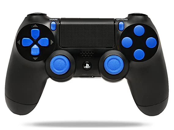Black/Blue PS4 Playstation 4 Rapid Fire Modded Controller for COD Black Ops  3, AW, Ghosts, Destiny, Battlefield: Quick Scope, Drop Shot, Auto Run,