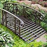 6-ft. Metal Garden Bridge Willow Creek Lawn Furniture