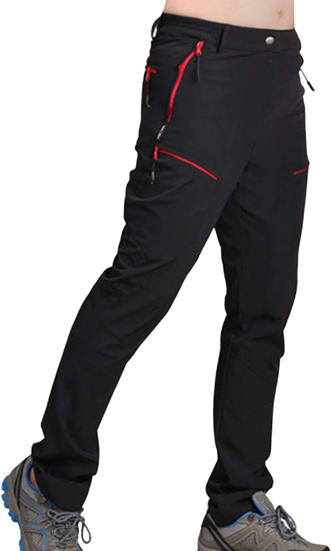 DAFENP Pantalon Randonnee Homme Imperm/éable Outdoor Ete Pantalon Trekking Softshell S/échage Rapide Leger Pantalon Montagne Camping