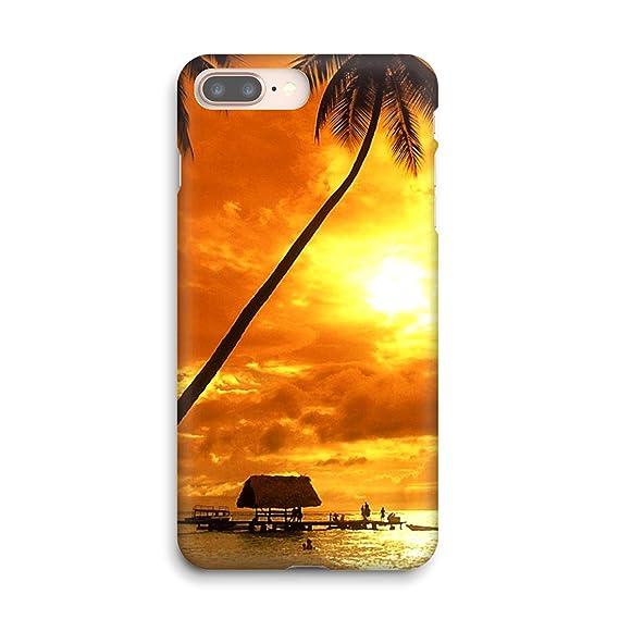 Amazon Com Tropical Island Beach Sunset Soft Gel Case For