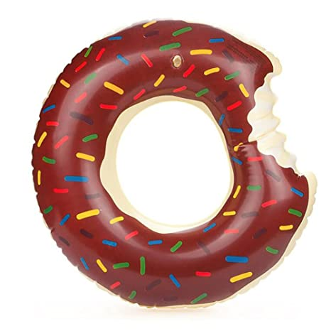Donut Anillo de natación Inflable, Tukistore Flotador Gigante Buñuelo Piscina Anillo de Natación Flotador Agua