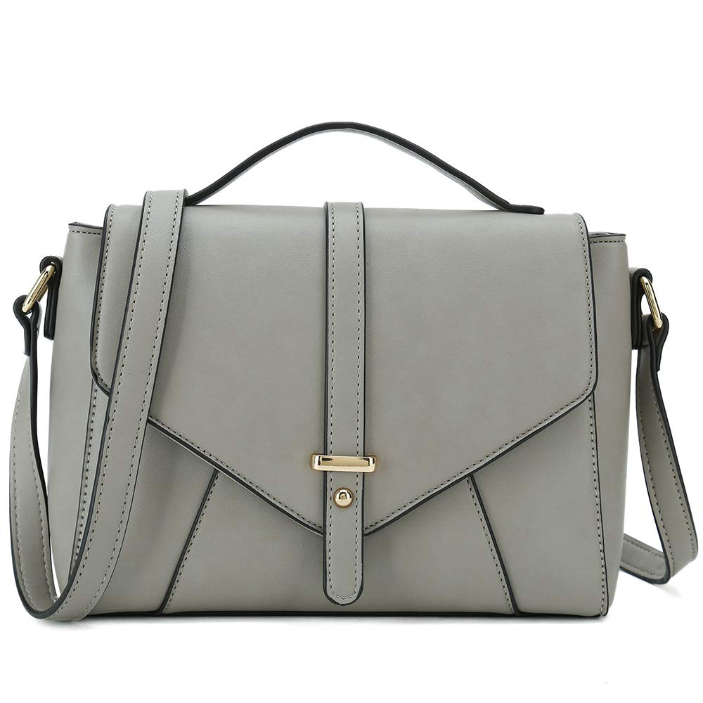 Ladies Designer Purses Cross Body Handbags Trendy Bags for Women Shoulder Bags (Light Grey)