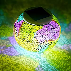 61ko4INfbLL. SS300  - Color Changing Mosaic Glass Ball Waterproof Yard Light Solar Powered Outdoor LED Table light Mosaic Night Lamp for Garden Home Patio Festival Party Decorations