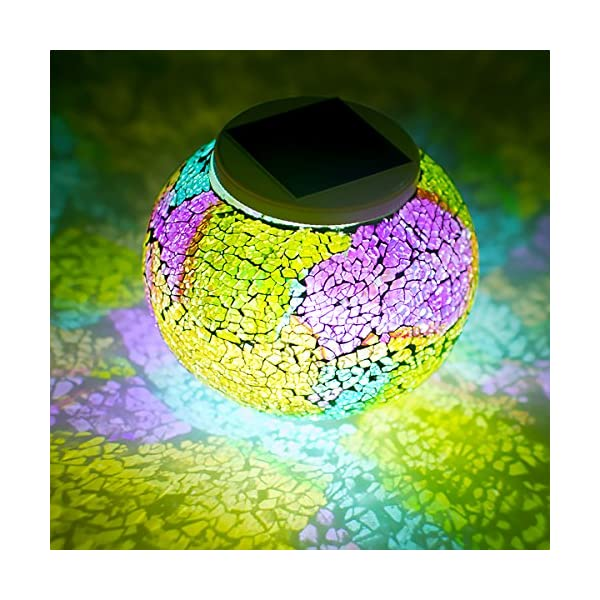 61ko4INfbLL. SS600  - Color Changing Mosaic Glass Ball Waterproof Yard Light Solar Powered Outdoor LED Table light Mosaic Night Lamp for Garden Home Patio Festival Party Decorations