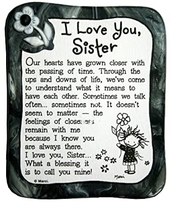 Blue Mountain Arts I Love You Sister by Marci Sculpted Resin Magnet (MR903)
