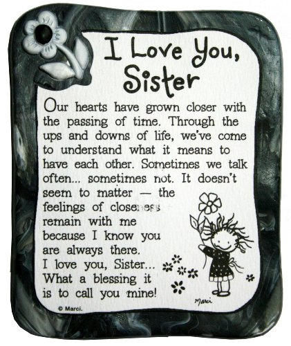 Blue Mountain Arts I Love You Sister By Marci Sculpted Resin Magnet  Mr903