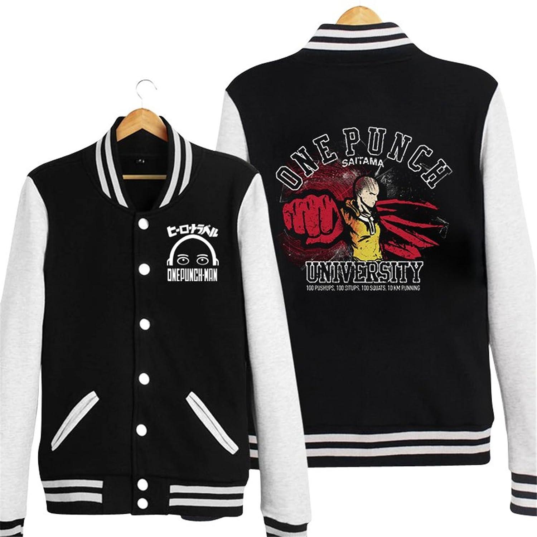 Bromeo One Punch Man Anime Unisex Baseball Uniform Long Sleeve Jacket Coat