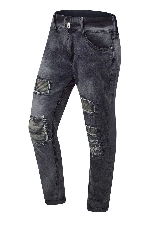Trending Apparel New Men Biker Gray Camo Denim Jeans Ripped Distressed Stacked Zipper 30-38