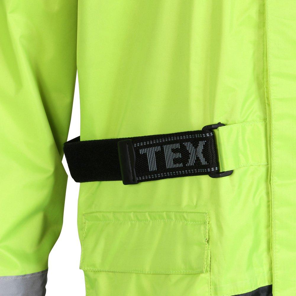 Texpeed Motorrad-Regenjacke Warnfarbe Wasserdicht