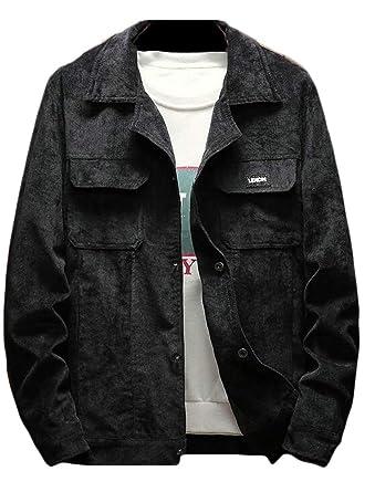 c26fa33f5d3 Generic Men s Vintage Button-Front Slim Fit Corduroy Denim Jacket at Amazon  Men s Clothing store