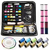 Arts & Crafts : Sewing kit - 134 Pcs Portable Sewing Kits for Adults Or DIY to Mending and Repair.by EOOSS
