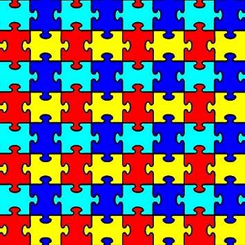 Amazon.com: Autism Puzzle Piece Craft Cutter Vinyl HEAT TRANSFER ...