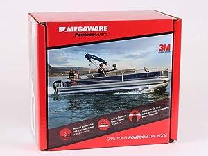 MEGAWARE PONTOONGUARD - Pontoon Boat Tube and Log Bumper Guard (32ft Kit - Pontoon up to 21ft, Black)