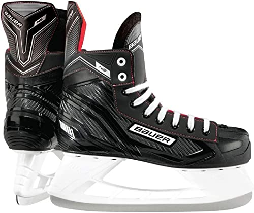 Bauer Ns Junior Ice Hockey Skate 1052948 in black with red trimmings