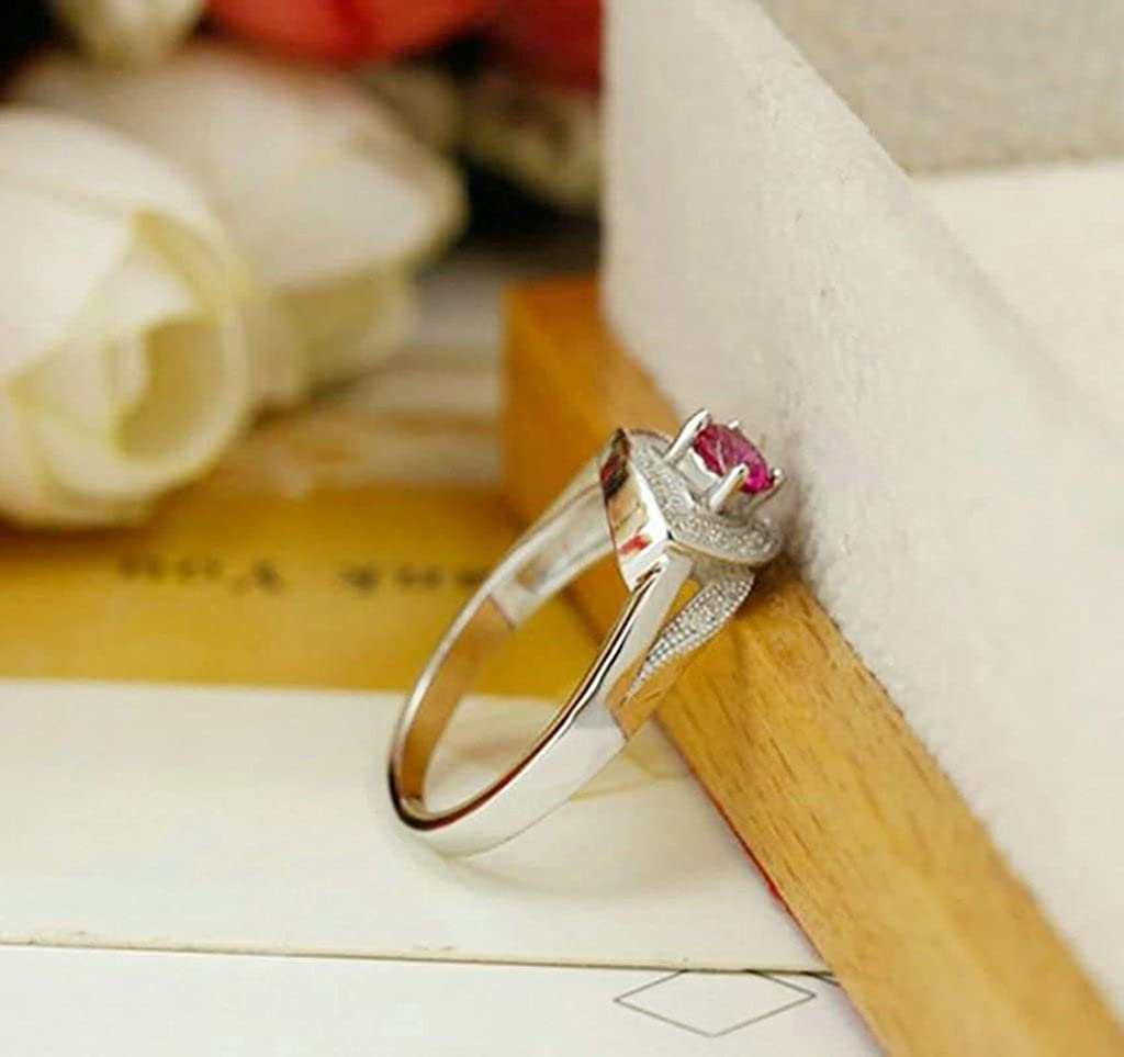 AMDXD Jewelry Silver Plated Wedding Bands for Women Hollow Leaf