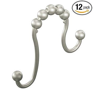 Moen SR2201BN Shower Curtain Ring, Brushed Nickel, Pack Of 12