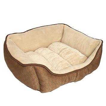 Cama para mascotas de perros y gatos, suave y cómoda Hermosa linda y gruesa Amortiguador de ...
