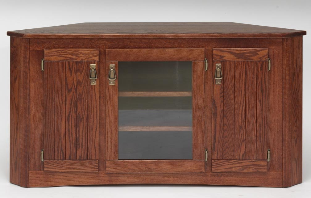 Amazon Com Solid Oak Mission Style Tv Stand W Cabinet 1998