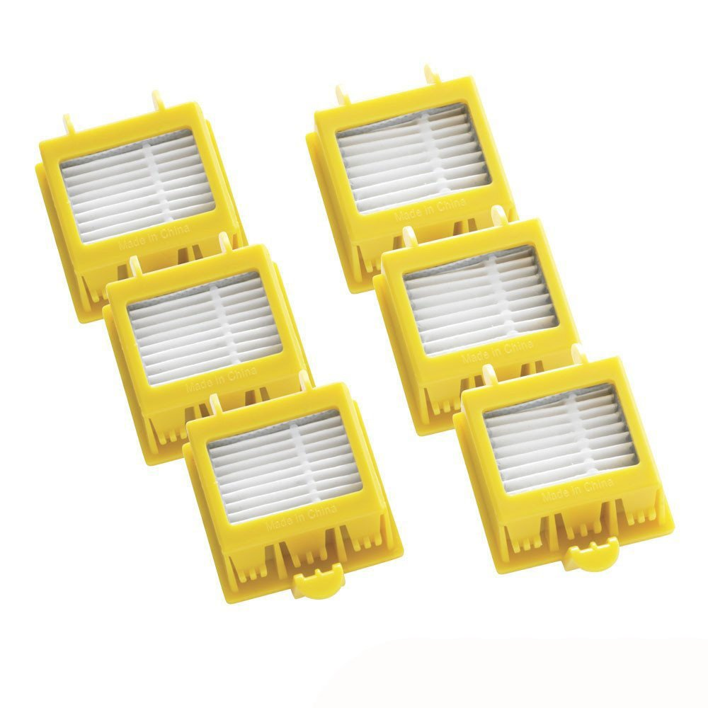 Accesorios para Aspiradoras 6pc Kit de Reemplazo para iRobot Partes Roomba 700 Series Filters Holatee Holatee-7010